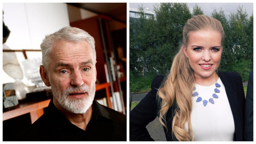 Kári Stefánsson og Áslaug Arna Sigurbjörnsdóttir tókust á í Íslandi ...