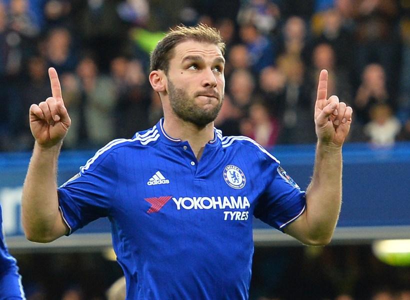 Ivanovic fagnar marki í leik með Chelsea.
