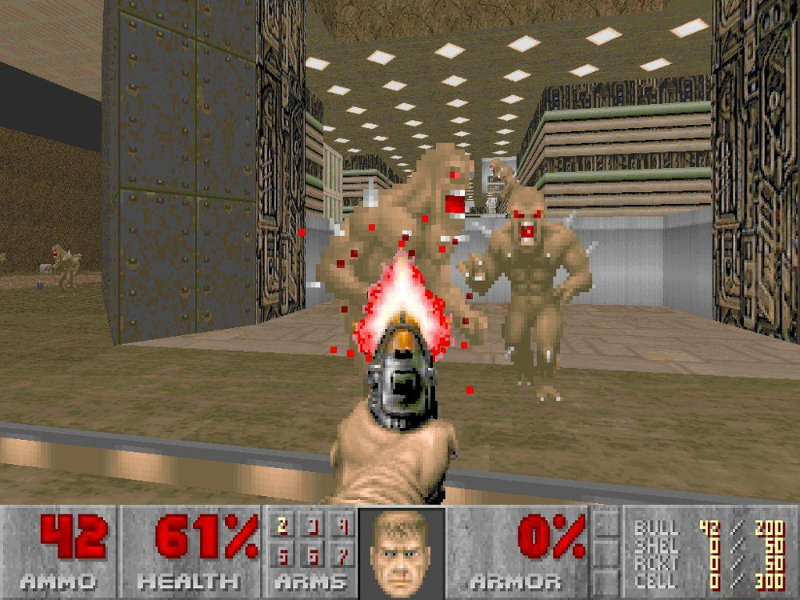 Doom var bylting í skotleikjum þegar hann kom út árið ...