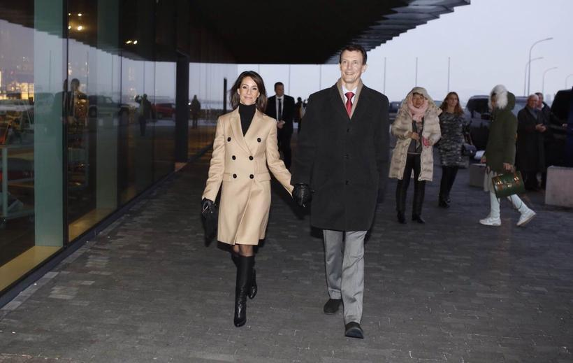 The royal couple entering Harpa concert hall today, designed by ...