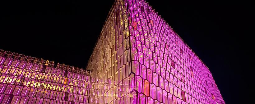 Harpa's facade is designed by artist Ólafur Elíasson. Next week, ...