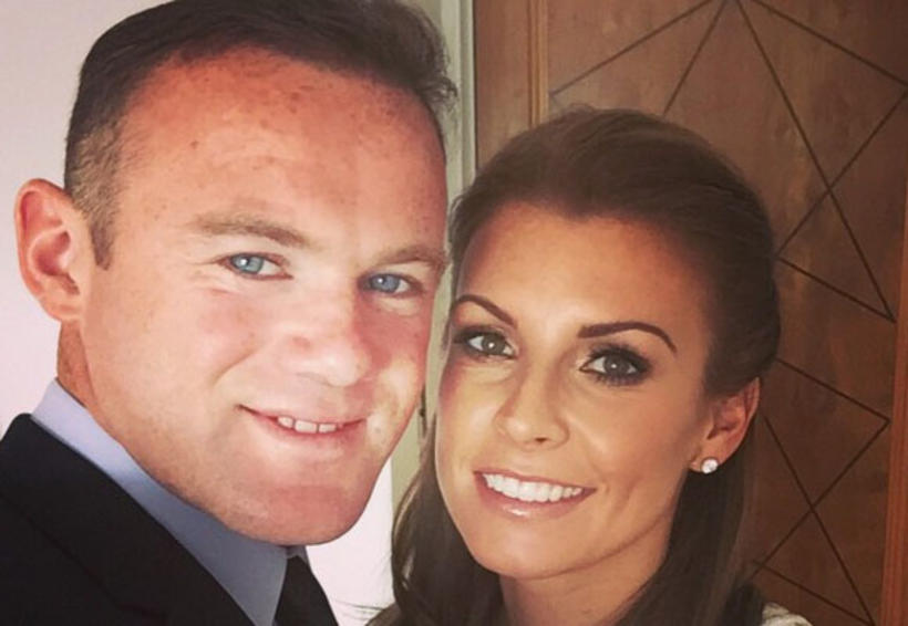 Fótboltakappinn Wayne Rooney og eiginkona hans Coleen.