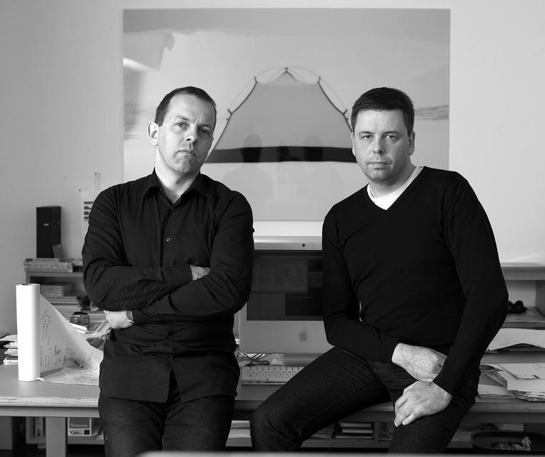 Arkitektarnir Steinþór Kári Kárason og Ásmundur Hrafn Sturluson.