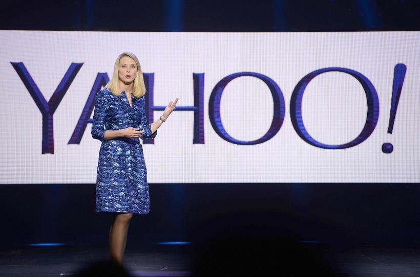 Marissa Mayer mun hætta sem forstjóri Yahoo við kaupin.