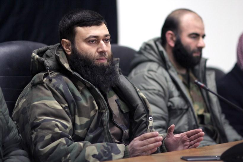 Abu Hammam, leiðtogi Jaish al-Islam. Stjórnvöld í Sýrlandi og Rússlandi …