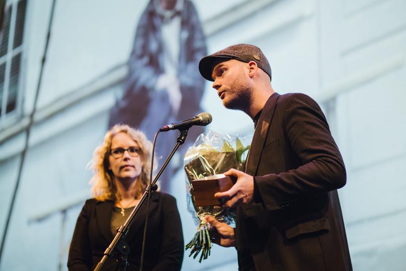 Director Grímur Hákonarson, with one of the 24 awards that ...