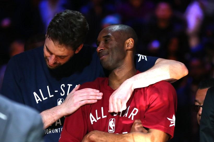 Pau Gasol og Kobe Bryant spiluðu saman með Los Angeles …