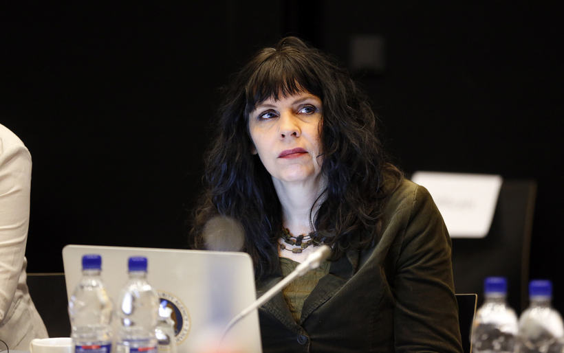 Birgitta Jónsdóttir, one of the Pirate Party's three current MPs.