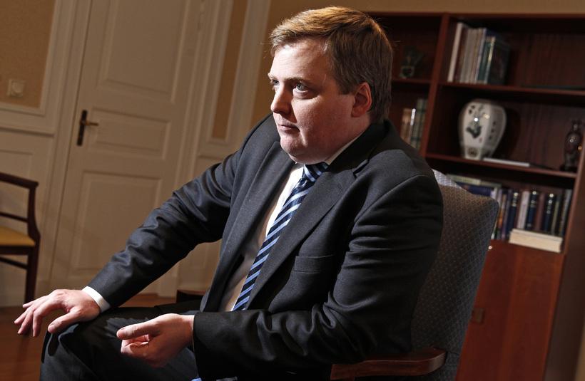 Sigmundur Davíð Gunnlaugsson, Prime Minister of Iceland.