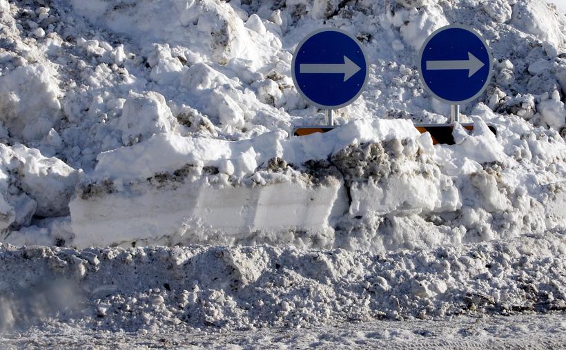 A roundabout in the Glerárhverfi district.