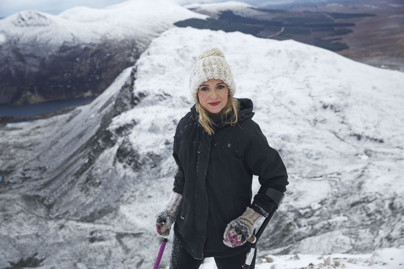 Nikki Bradley on Mount Errigal