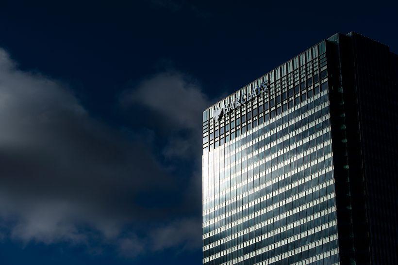 Höfuðstöðvar Barclays í Canary Wharf-hverfinu í London.