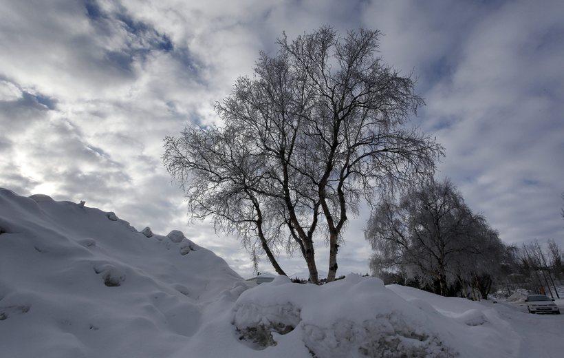 Þá var mánuðurinn kaldasti febrúar á Akureyri síðan árið 2009.
