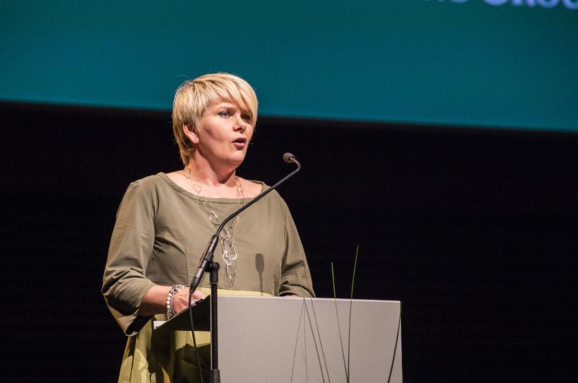 Ragnheiður Elín Árnadóttir, iðnaðar- og viðskiptaráðherra.