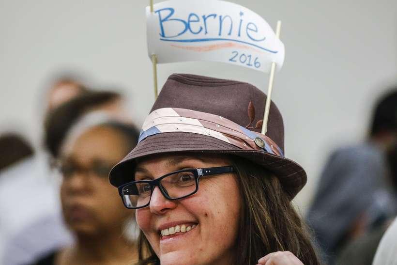 Þessi fór ekki leynt með stuðning sinn við Bernie Sanders
