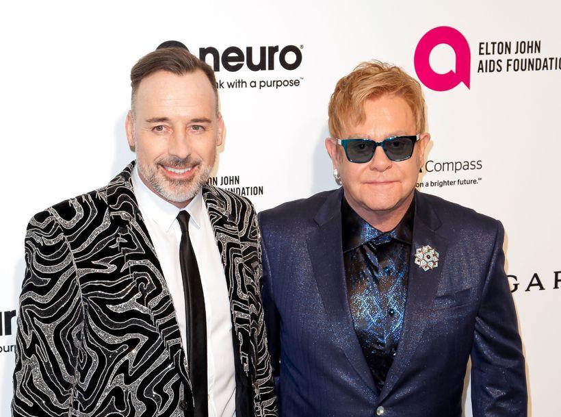 David Furnish og eiginmaður hans Elton John.