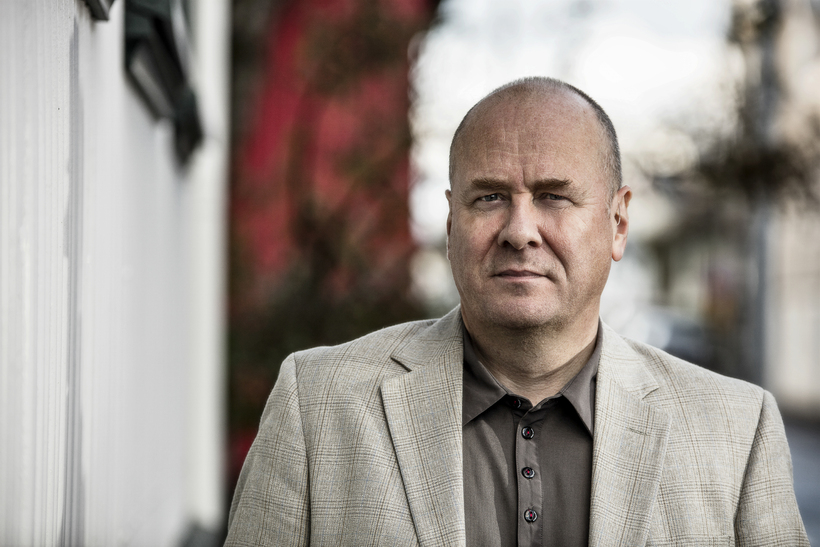 One of Iceland's most famous crime novelists, Arnaldur Indriðason.