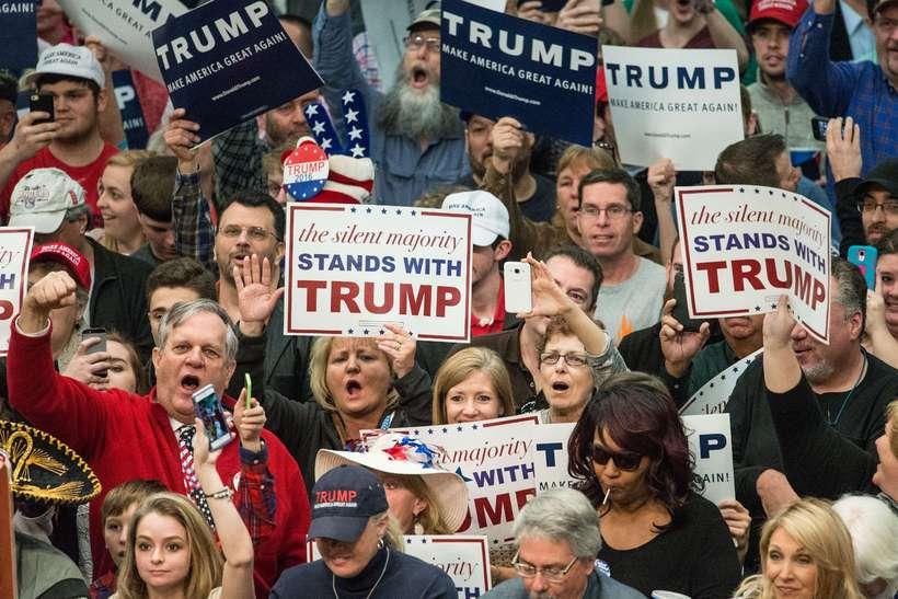 Stuðningsmenn Donalds Trump í Norður-Karólínu.