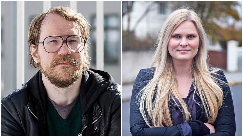 Halldór Auðar Svansson og Hildur Sverrisdóttir.