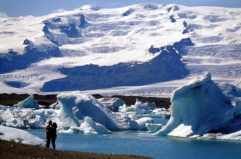 Jökulsárlón is one of Iceland's prime tourist sites.