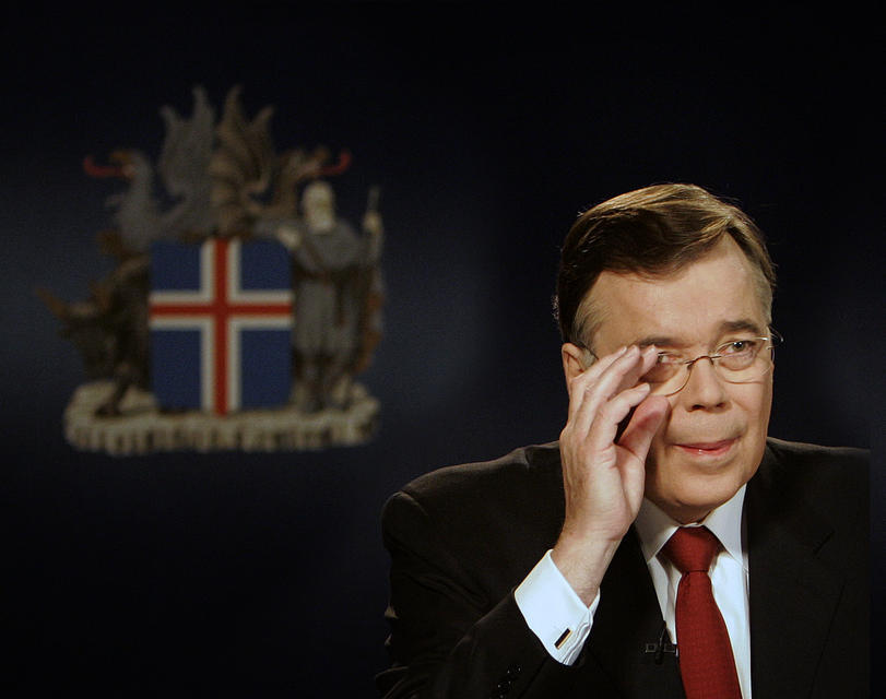 Then PM Geir Haarde preparing to announce to the nation …