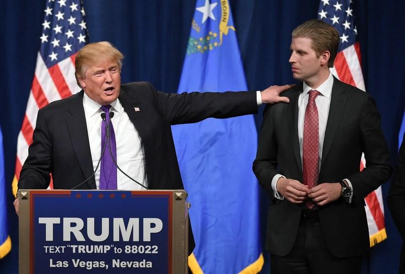 Eric Trump hefur ekki lengur aðgang að einkaþotu föður síns.