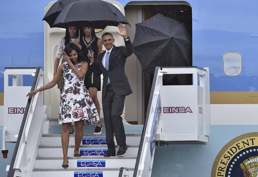 Barack Obama í kjól frá Carolinu Herrera.