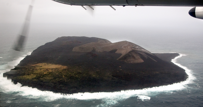 The new island of Surtsey.