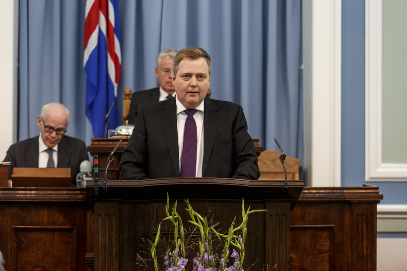 Sigmundur Davíð Gunnlaugsson PM. He and his government will be ...