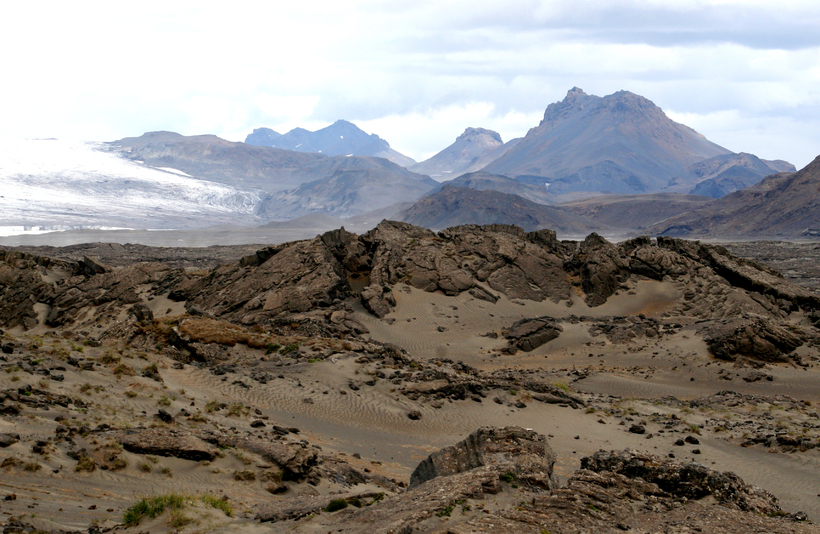 Jarlhettur við Langjökul.