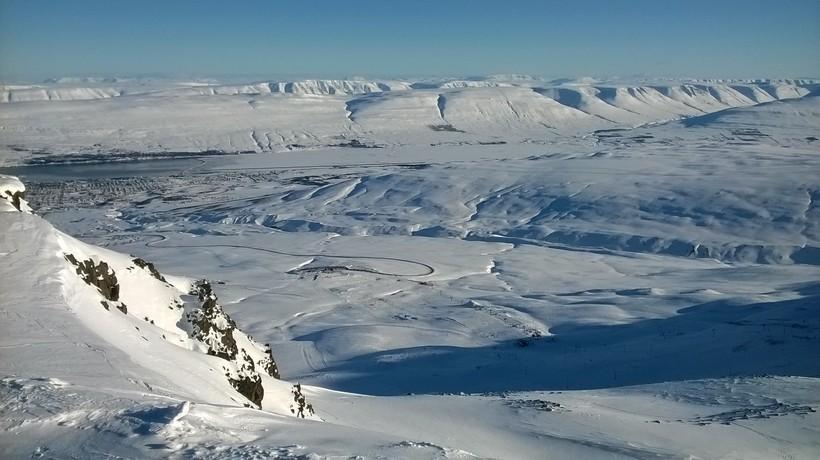 Þessi mynd var tekin í Hlíðarfjalli fyrr í vetur.