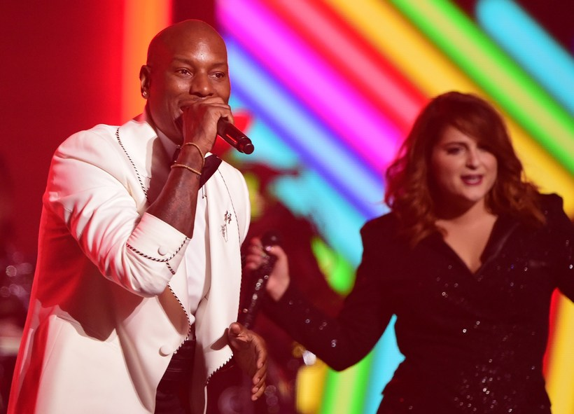 Tyrese Gibson (left) performing alongside Meghan Trainor perfrom at 58th …