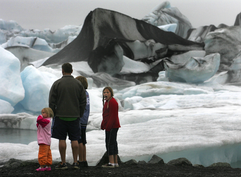 One of Iceland's most famous tourist spots, the Jökulsár glacial ...