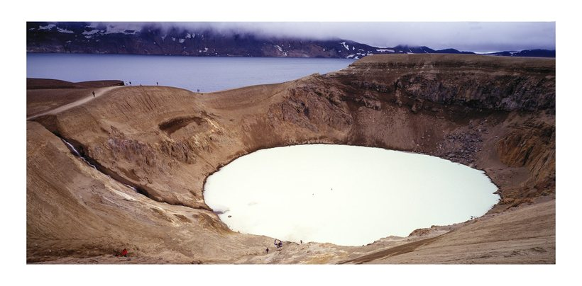 Lake Öskjuvatn is on the bottom of an old crater.