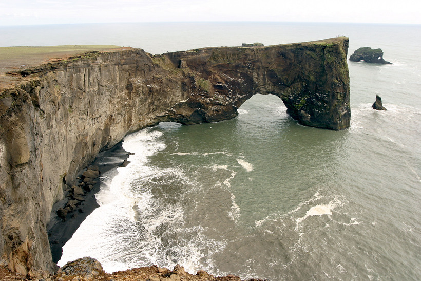 Dyrhólaey is a 120-metre high promontory, not far from Vík …