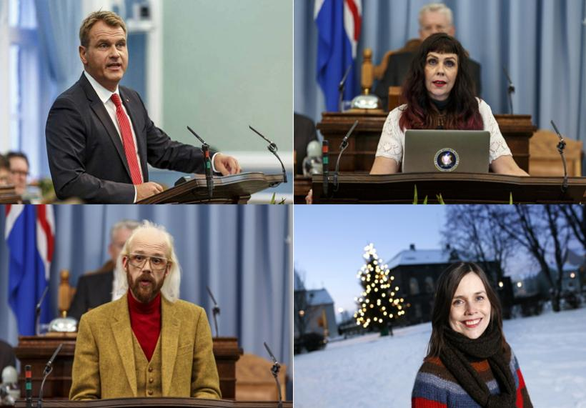 The leaders of Iceland's four opposition parties are discussing the …