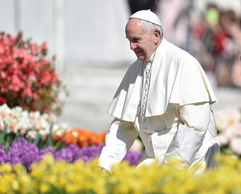 Pope Francis in St Peter's Square, Vatican City.