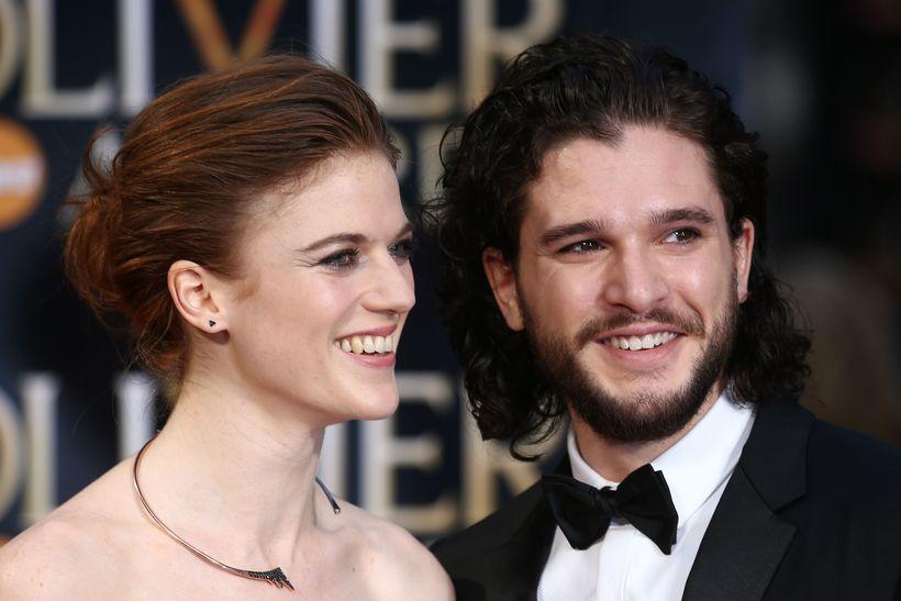 Kit Harington. aka Jon Snow with his girlfriend, actress Rose ...