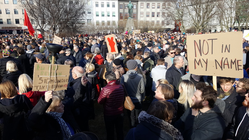 Austurvöllur square was full to bursting with angry Icelanders.
