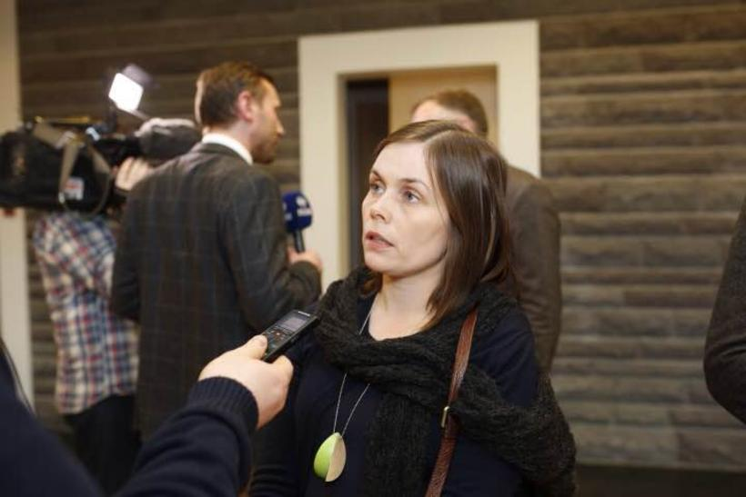 Katrín Jakobsdóttir leader of the Left Green Party at Parliament ...