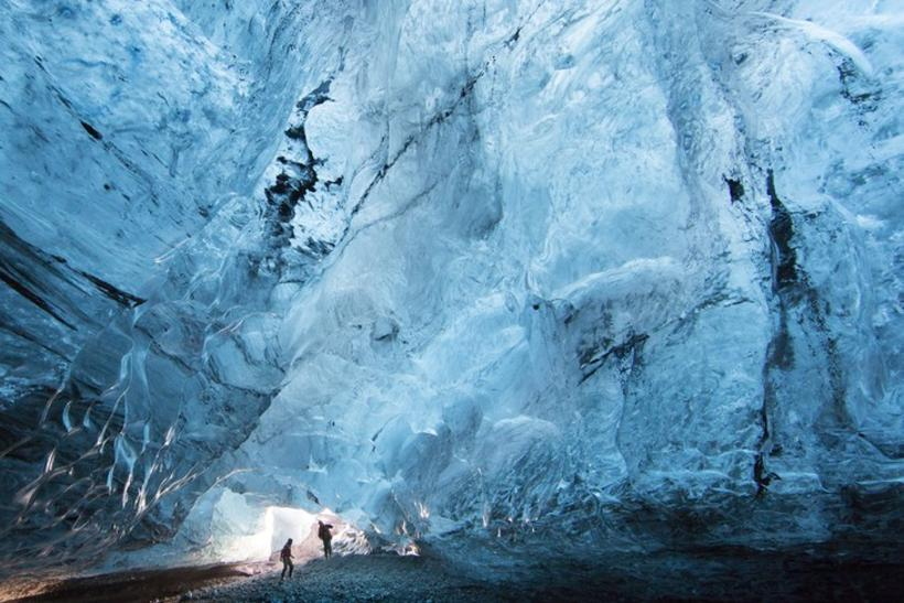 Thousands of toursists visited the ice caves this winter.