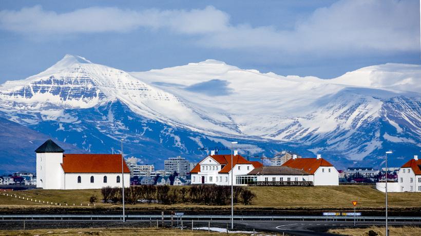 Bessastaðir, the residence of the President of Iceland.