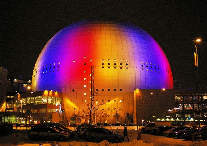 The Ericsson Globe arena in Stockholm, venue of the 2016 ...