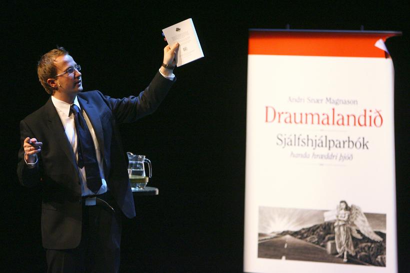 Magnason presenting his landmark book 'Dreamland' back in 2006.