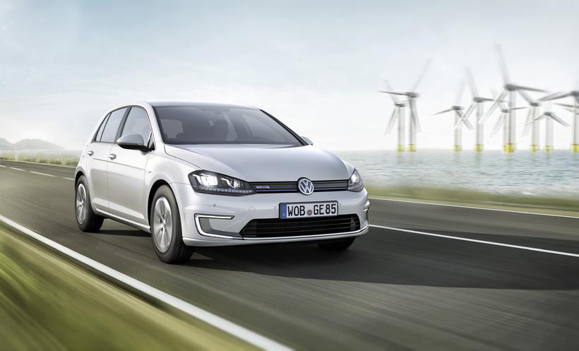 Rafbíllinn Volkswagen e-Golf.