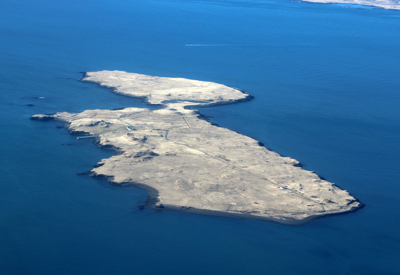 The proposed bridge would be connected to the island on …