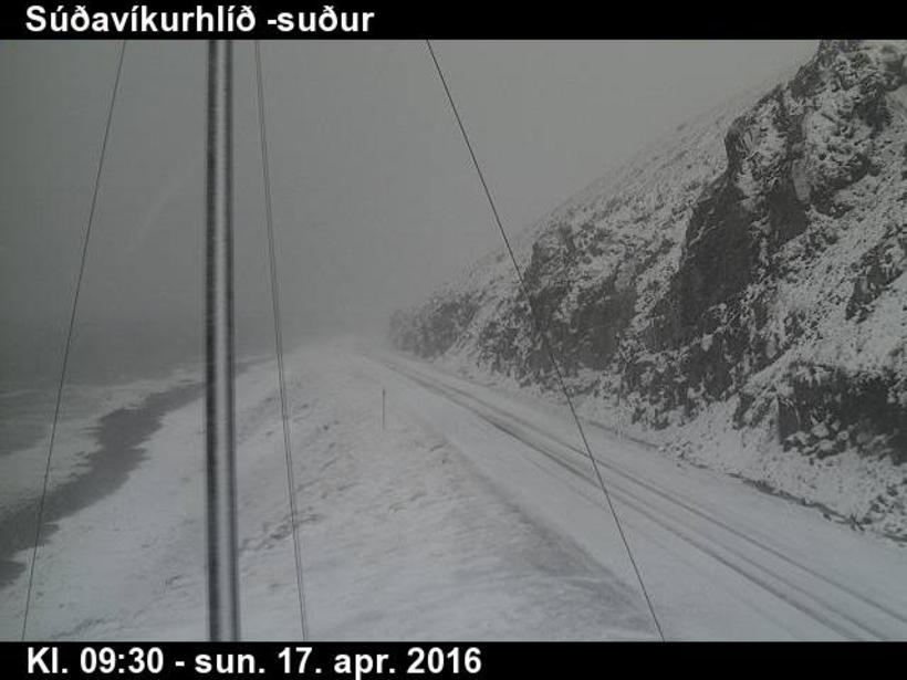 Snow was falling in the West Fjords as early as ...