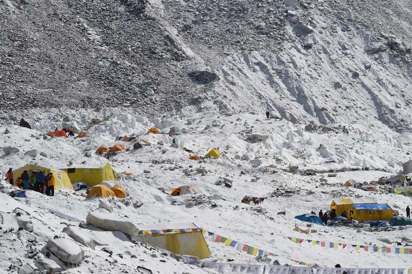 Frá grunnbúðum Everest