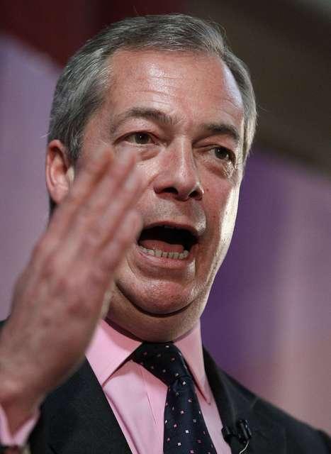 Nigel Farage kynnir kosningastefnuskrána í Essex fyrir skömmu.