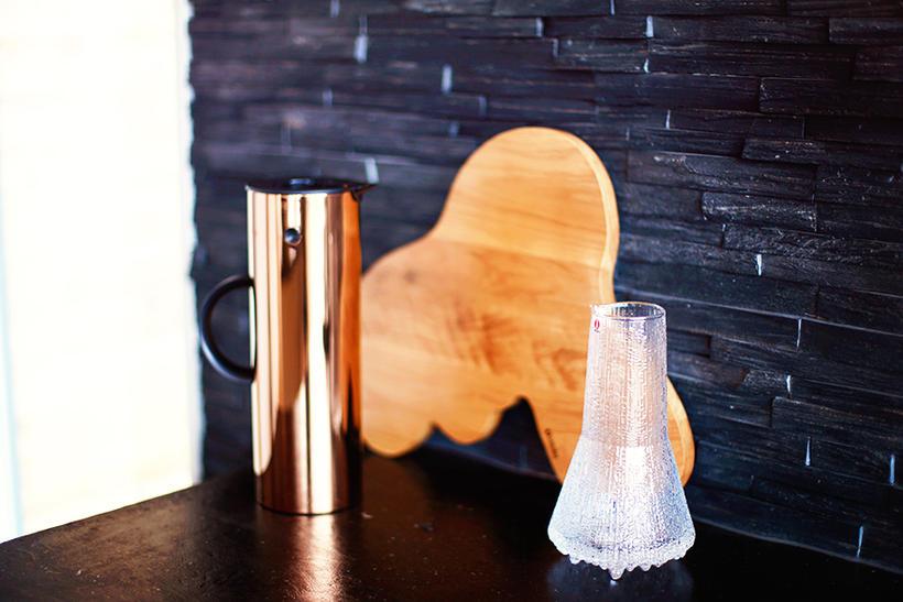 Stelton kaffikanna í bronslit.